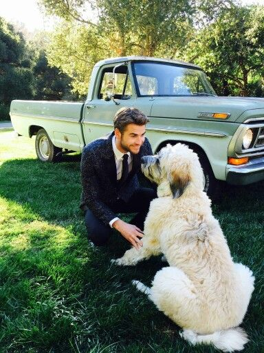 Liam Hemsworth & His dog