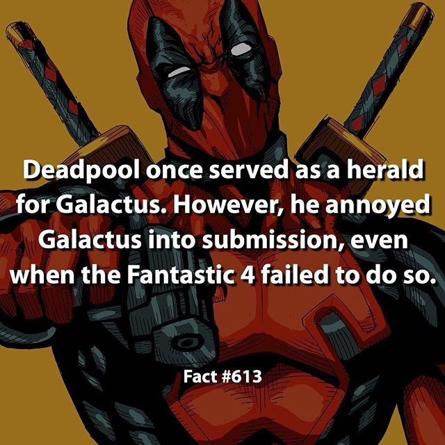 marvel fact  deadpool