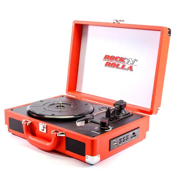 Rock 'n' Rolla Junior Portable Briefcase Vinyl Turntable