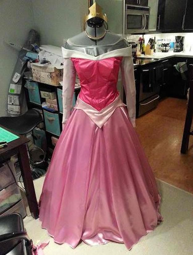 DIY Aurora Costume   DIY Disney Costumes   Coolest Disney Costume Tutorial Perfect For Your Next Party Theme! by DIY Ready at http://diyready.com/18-diy-disney-costumes/