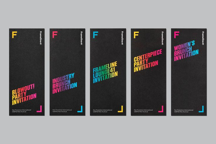 Visual identity, campaign and print by Mucho for San Francisco based LGBT film festival Frameline 41.
