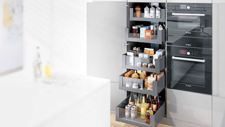 Keukenkast Accessoires : Blum keukenkast met lade indeling Legrabox van Blum