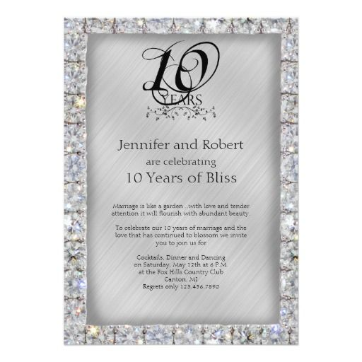 Best Wedding Anniversary Party Invitations Images On