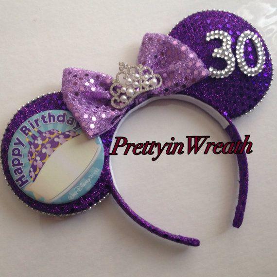 Birthday inspired Mickey Mouse ears headband by PrettyinWreath