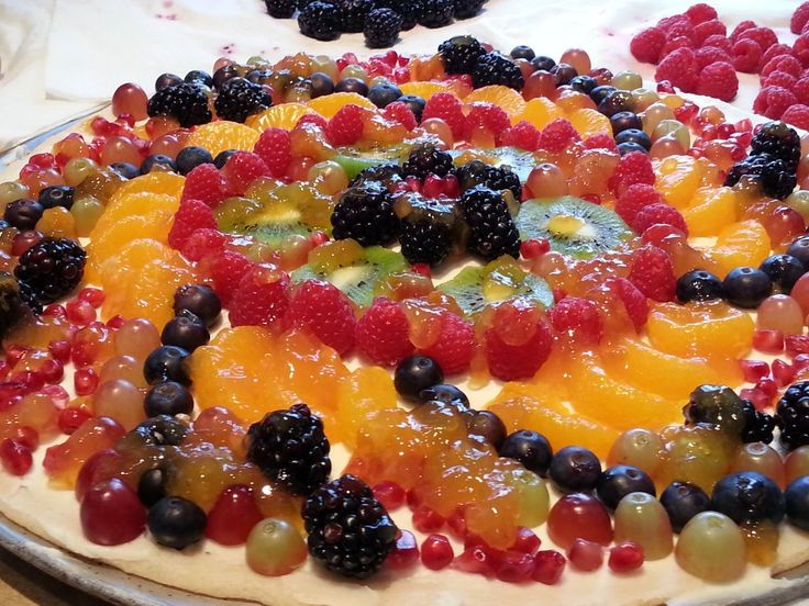 If this fruit pizza doesn't make your mouth water jut by looking at it then wait til you taste it! Try this for your next party! 20121224_123230
