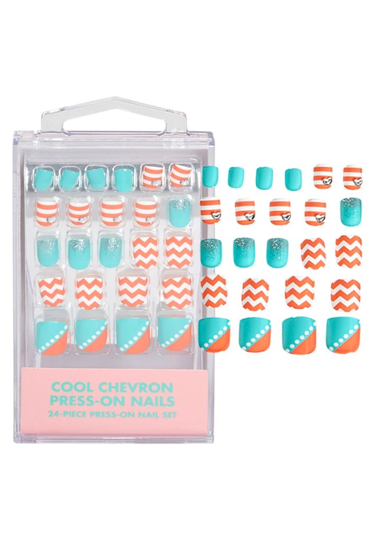 Cool Chevron Press On Nails