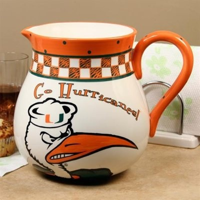 Miami Hurricanes Game Day Ceramic Pitcher