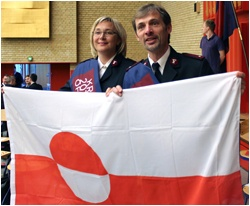 In December 2011 Colonel Birgitte Brekke was invited to visit Greenland to explore the potential for Salvation Army work there. The colonel, along with the Chief Secretary took up that offer and visited Greenland subsequently filing a report to International Headquarters which recommended the commencement of Army work in Greenland without delay. The report was carefully studied by the International Management Council, under the chairmanship of the General, and approval was given to proceed.