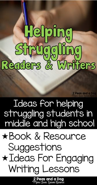 writing help for struggling students Know the components of the writing process  the challenges of writing need to be made clear to the struggling writer  students' strengths and interests.