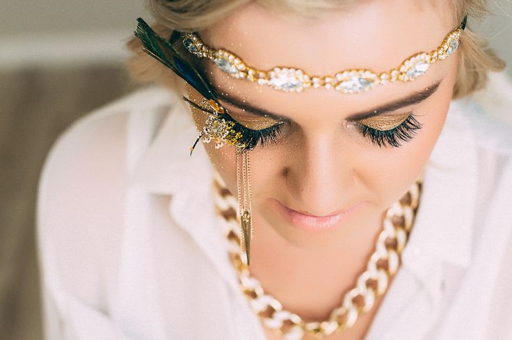 Gold/gatsby inspired lashart/makeup done by Clarita Smit www.claritasmit.co.za