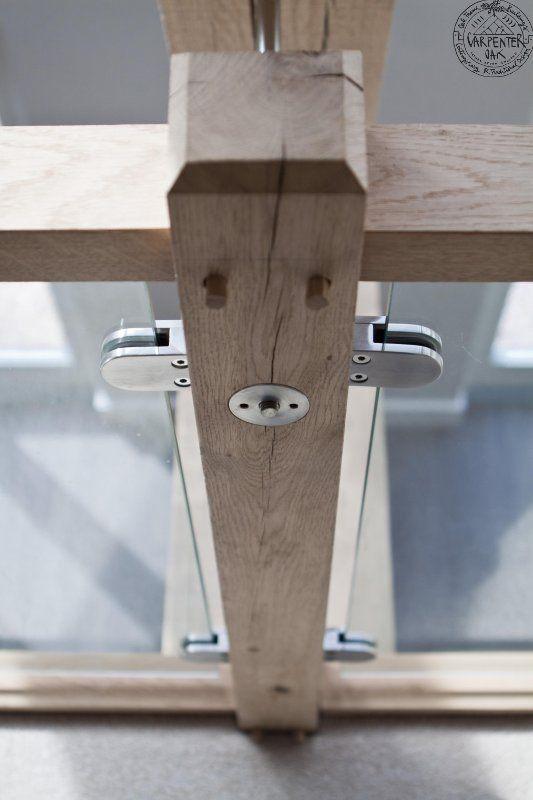 Oak staircase detail