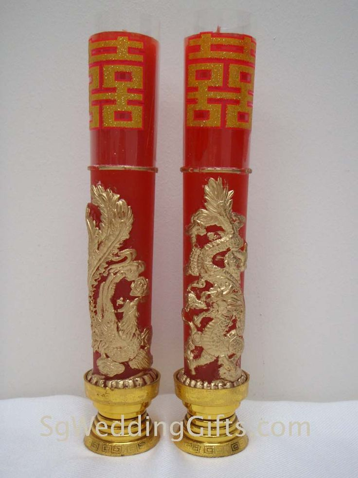 Dragon Phoenix Candles Chinese Wedding Pinterest