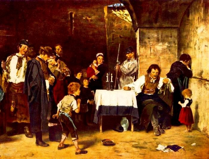 Mihaly Munkacsy – The Condemned Cell – 1870 – Hungarian National Gallery…