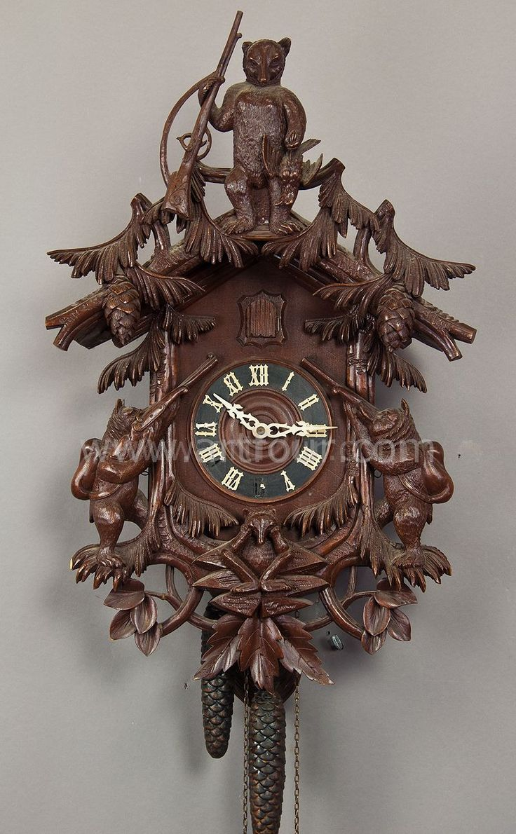 Black forest clocks carved wood cuckoo