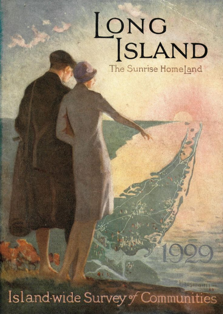 "George F. Sweeney (Firm), & Long Island Real Estate Board. (1929). Long Island: ""The Sunrise Homeland."" New York: George F. Sweeney (credit: Special Collections and University Archives, Stony Brook University).Sunrises Homeland, Sunris Homeland, Long Island"
