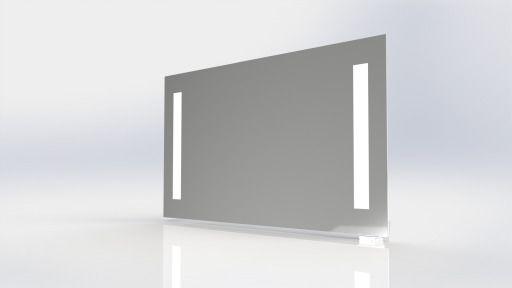 Prisma spegel 650x800mm m/inbyggt ljus och kontakt, IP44