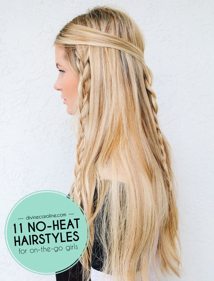 Check out these 11 no-heat hairstyles for the girl on the go! #divinecaroline #noheat #hairstyle