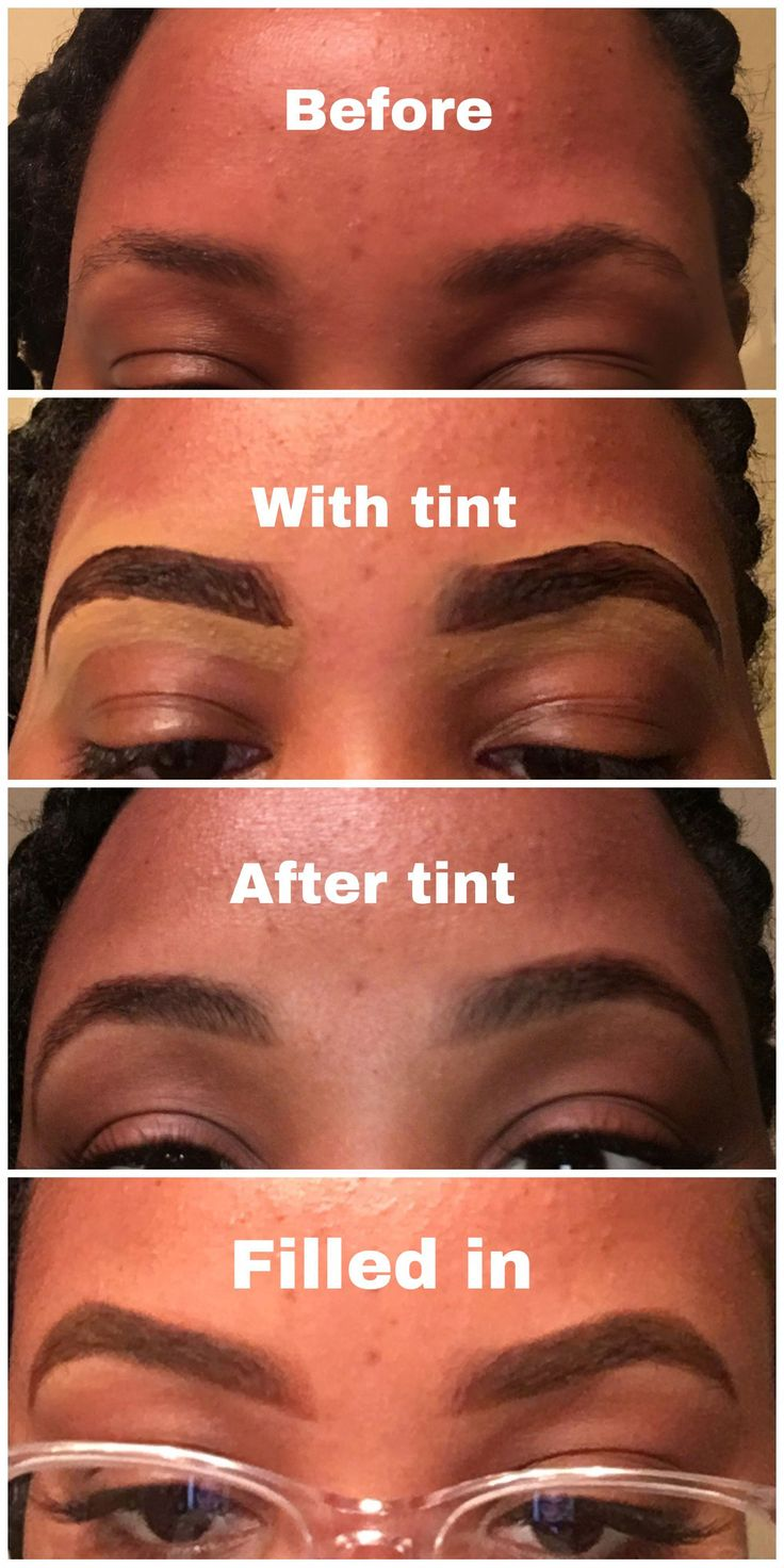 Eyebrow tint with Just for Mens beard dye in the c…