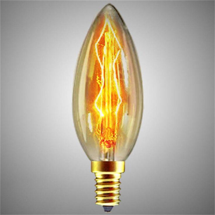 Edison Filament Light Bulb Vintage Industrial Retro Light Lamp Variety Styles E27/E14 Screw 40W 220V Dimmable light Hot 2016