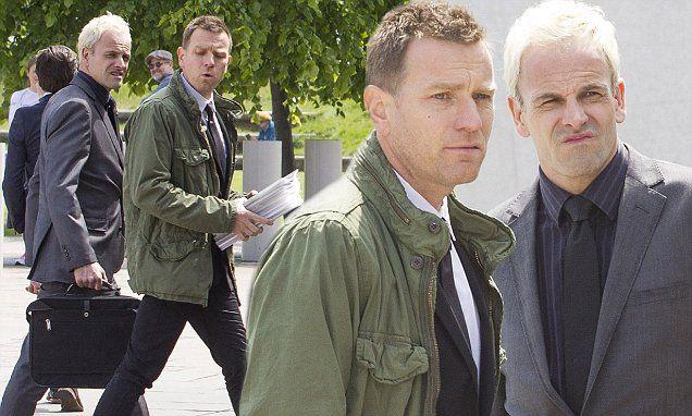 Ewan McGregor, 45, and Jonny Lee Miller, 43, shot scenes for the highly-anticipated Trainspotting sequel in Edinburgh on Saturday.