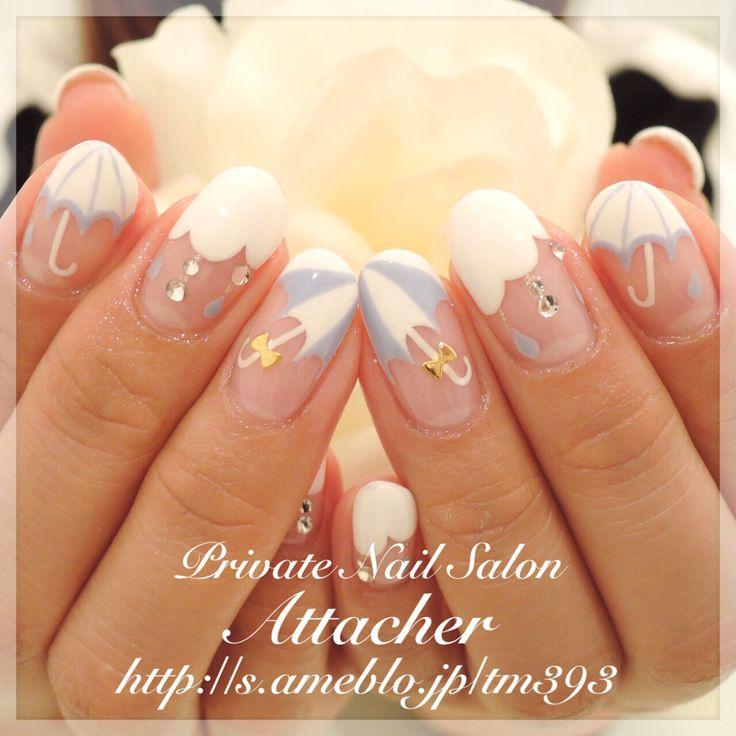 みんなの人気フォト|ネイル画像数国内最大級のgirls pic(ガールズピック) #nail #summer #art #umbrella #white