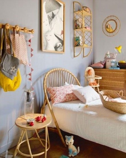 Shake My Blog | Des lits en rotin vintage dans les chambres d'enfants