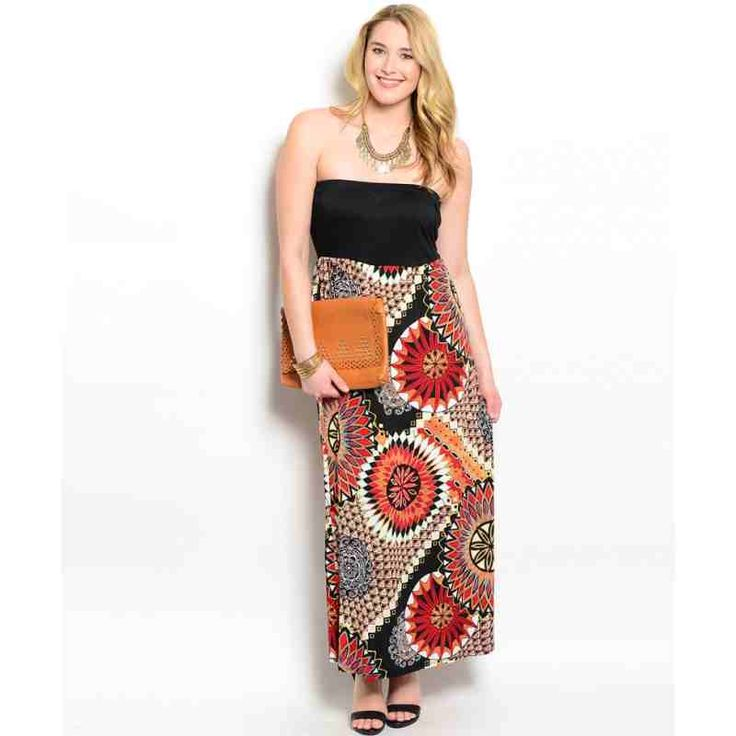 PRE-ORDER - BLACK ORANGE RED PLUS SIZE DRESS $52.00 http://www.curvyclothing.com.au/index.php?route=product/product&path=95_101&product_id=8705&limit=100