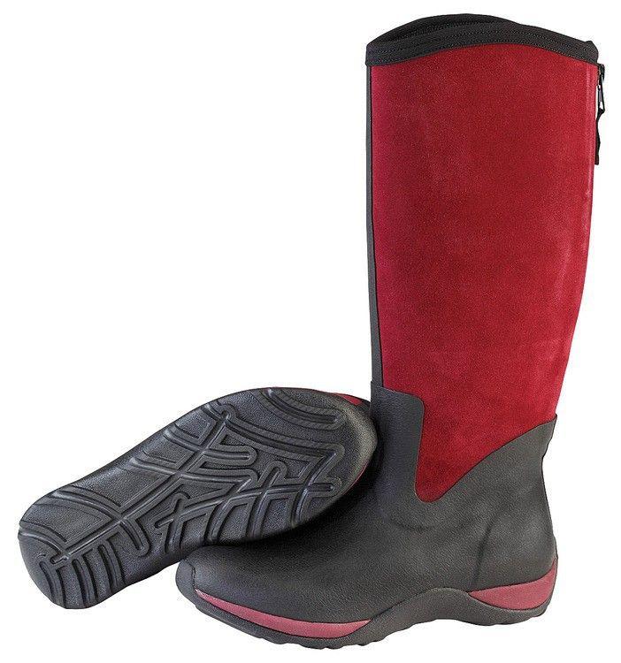 Muck Boots Women's Arctic Adventure Zip Suede Winter Boot - Black/Maroon  (AAZ-