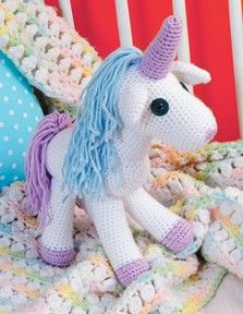 Baby's Crocheted Unicorn