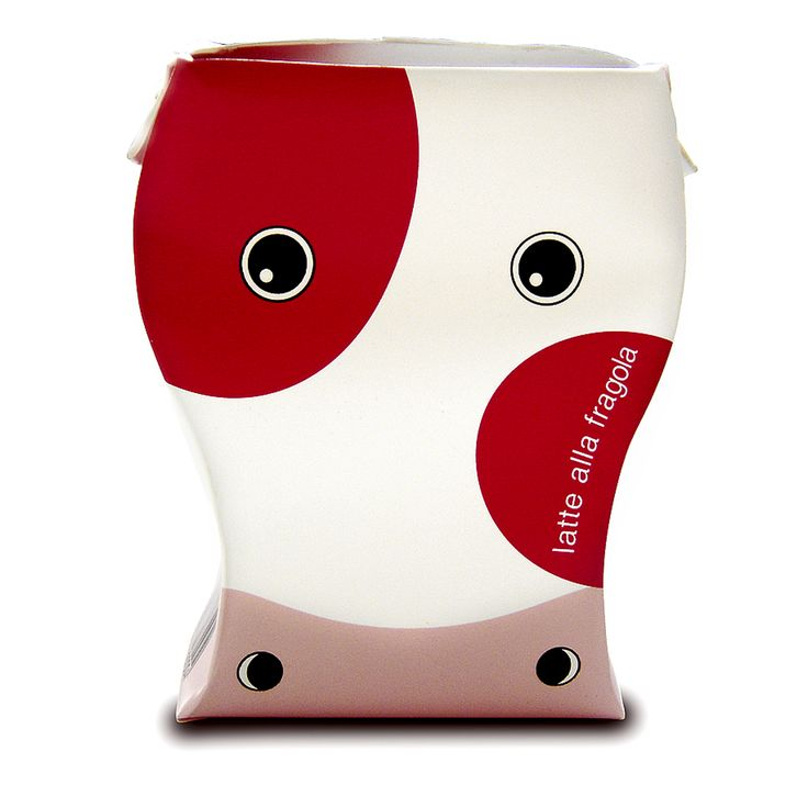 Design -1 / 1 Milk packaging, realised for Pro Carton Prize 2003. Won for the category