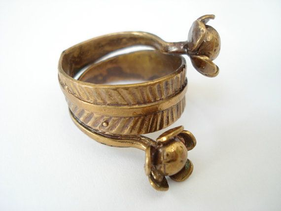 Vintage Seppo Tamminen Finland Bronze Flower Modernist by Objeks, $145.00