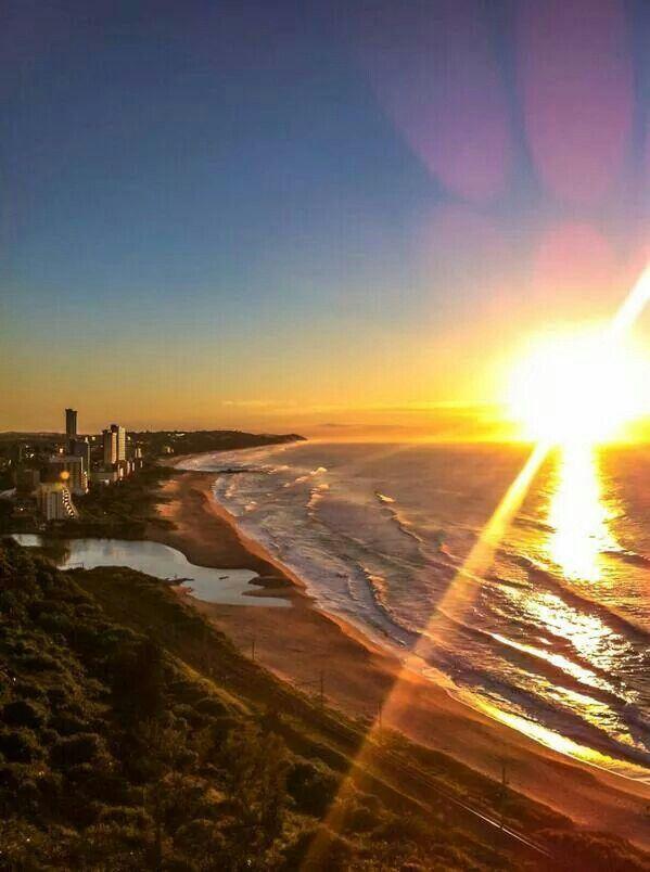 Sunrise at Durban, South Africa.
