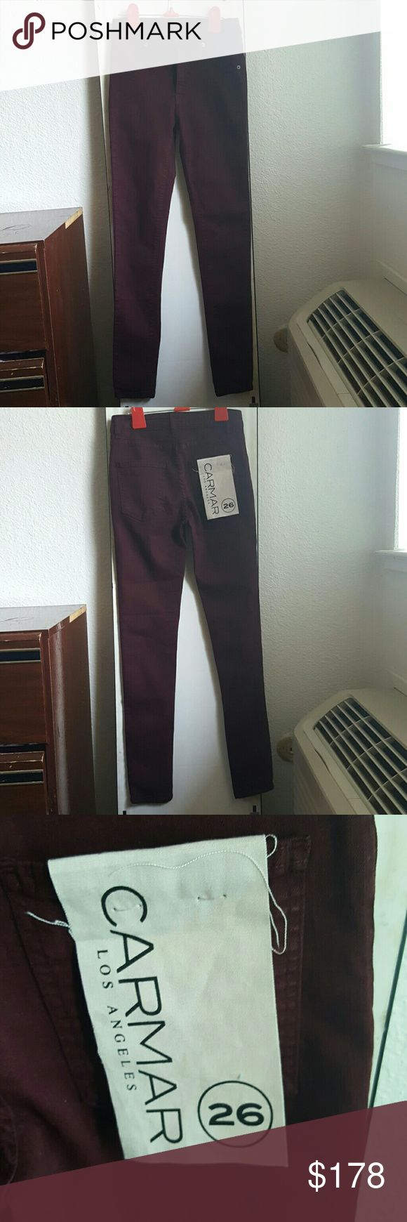 LAST DAYS OF SUMMER 💔 3180 BURGUNDY HIGH RISE . LF Jeans Skinny