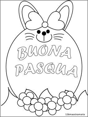 Il conigio che augura buona Pasqua