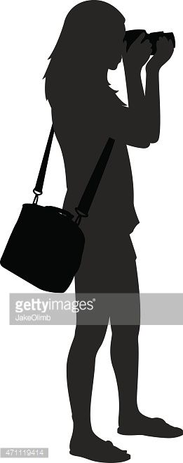 Image result for girl with camera silhouette