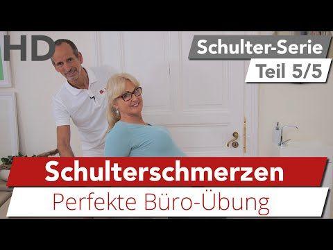 Schulterschmerzen // Die perfekte Büro-Übung bei Schulterbeschwerden - YouTube