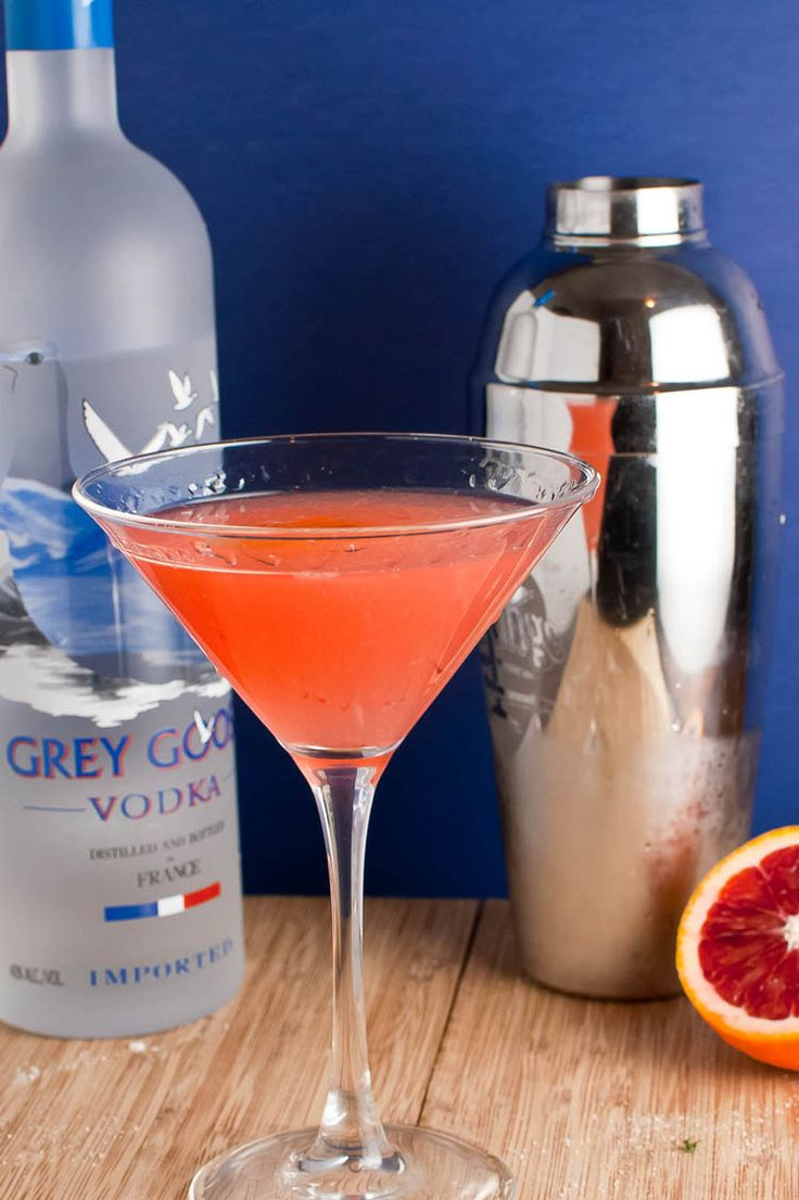 BLOOD ORANGE VODKA MARTINI - 2 parts vodka 2 parts freshly squeezed blood orange juice 1/2 part simple syrup (easily made by bringing equal parts sugar and water to a boil and letting cool after sugar dissolves) 1/2 part triple sec ice