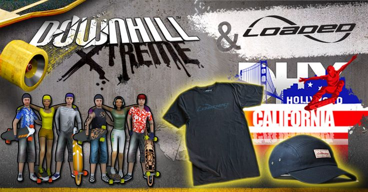 Race online in Californ-I-A and you could WIN a T-Shirt and Hat in the Loaded Boards World Tour!   Sign up here http://bit.ly/californiasignup   Read more here http://www.distinctivegames.com/news/post/downhill-xtreme-and-loaded-boards-competition   Get the game here The App Store: http://bit.ly/dhxapple Google Play: http://bit.ly/dhxgoogle