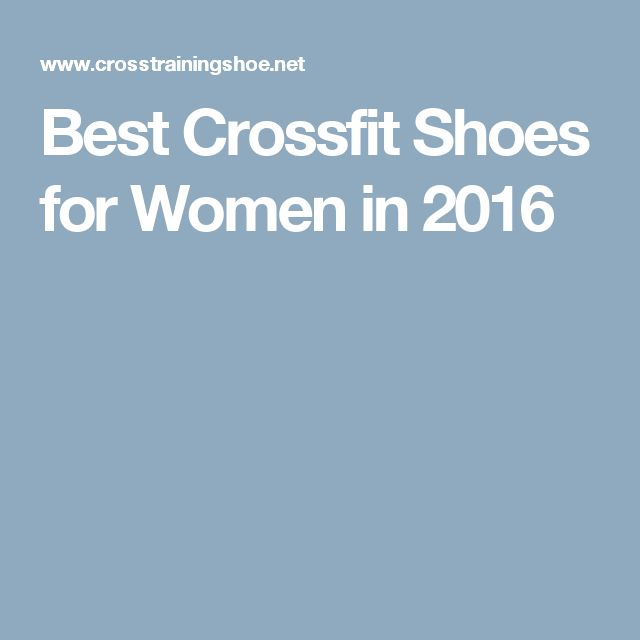 Best Crossfit Shoes for Women in 2016
