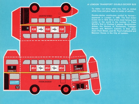 Free Printable Double-Decker London Bus While trying to manage the glue, my…
