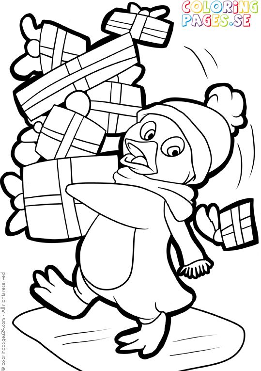 1284 best Christmas coloring pages images on Pinterest Coloring - new christmas coloring pages penguins