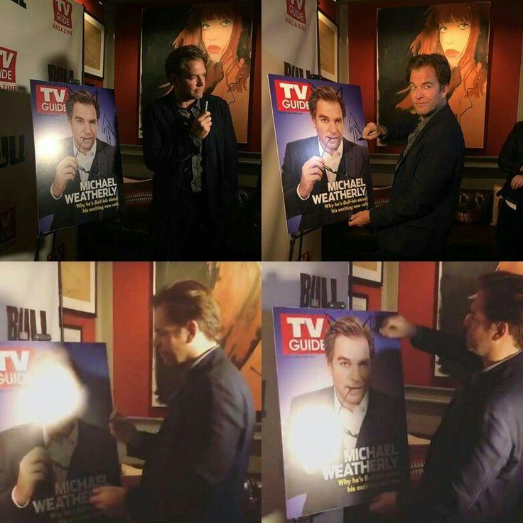 5.10.16 My husband celebrating cover of TV Guide magazine.
