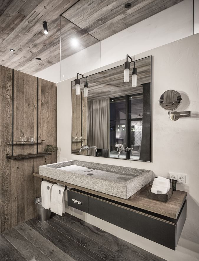 Interior inspiration - Bathroom the room where you see the real you - bathroom#wood#clean#natural materials