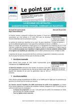 GAYRAUD DOMINIQUE point sur la reforme des retraites AOÛT 2013