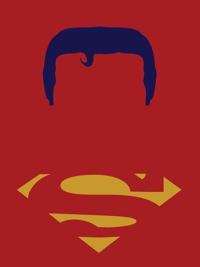 Superman Red Minimalist Art Print
