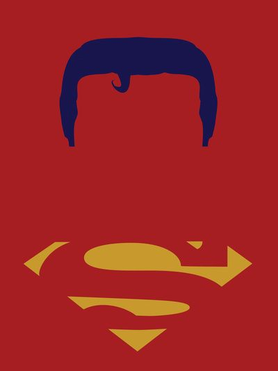 Superman Red Minimalist Art Print