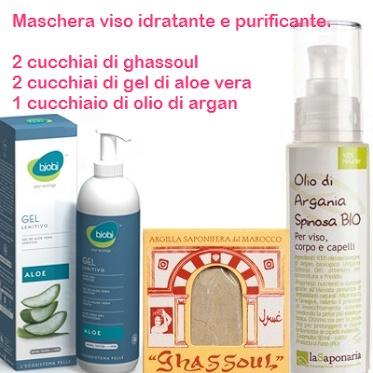 Il Gel di Aloe Vera può essere utilizzato anche nelle preparazioni delle maschere viso.
