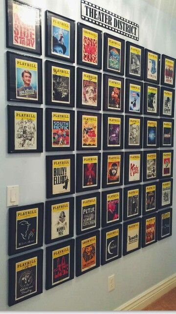 Best 25 Playbill Display Ideas On Pinterest Hanging