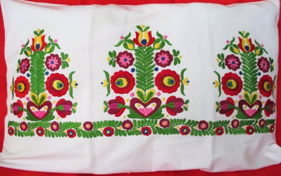 12. Vintage hand embroidered pillowcase by vintagelinenbroidery