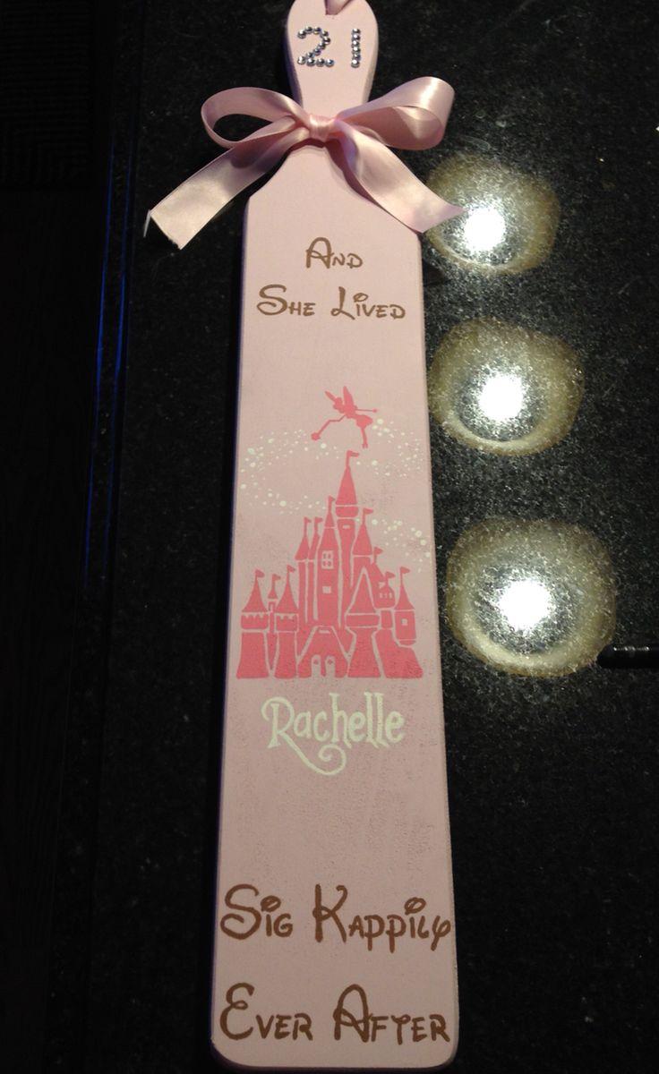Disney Sigma Kappa 21st Paddle